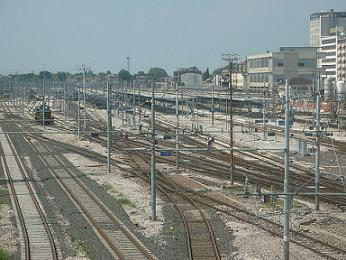 Mestre railway station, free picture Wiki from Luca Fascia