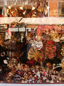 Venice souvenirs in San Marco shopping area