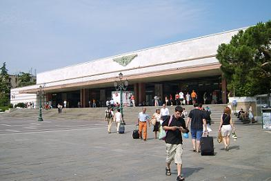 santa lucia station in venice historic city