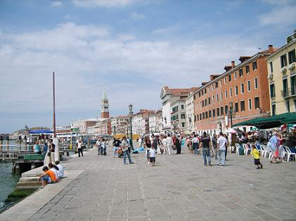 Venice waterfront Riva degli Schiavoni