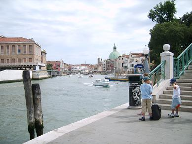bus station and grand canal