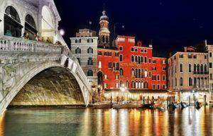 hotel rialto and bridge over canal