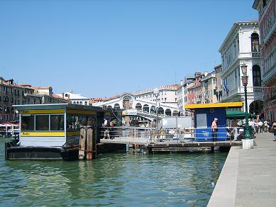 rialto bridge venice and water bus