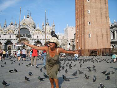 st mark's square venice with pigeons