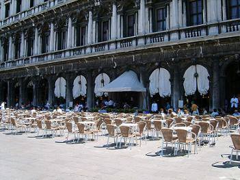 cafe terrace at st mark's square venice