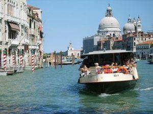 waterbus at canal grande, venice italy